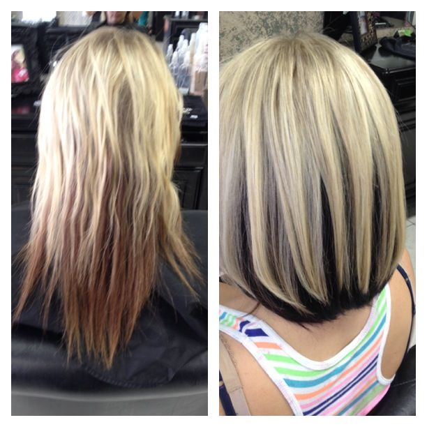 Pin By Larue Kay Salon On Color Highlights Dark Underneath Hair Brown Hair Underneath Blonde Hair With Brown Underneath