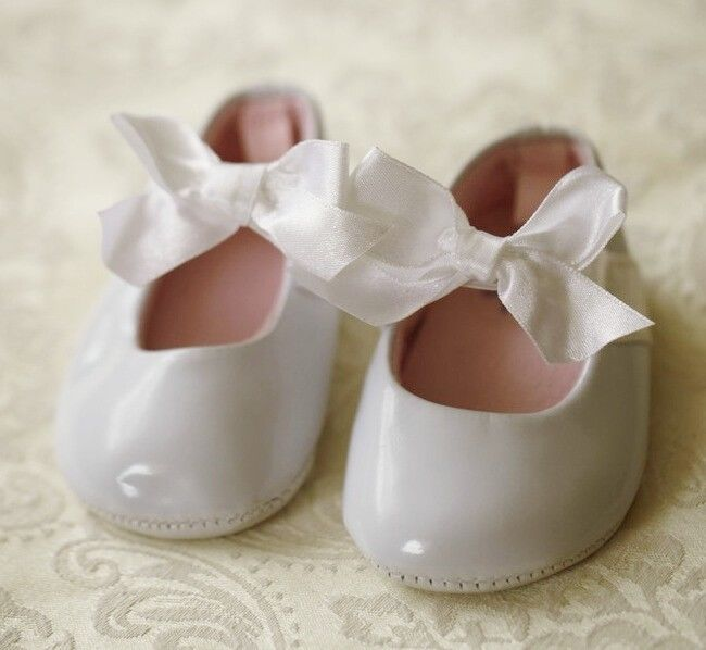 Baby Girl Darling Patent Ballerina Shoes 0-6m Size 1//2 Cream