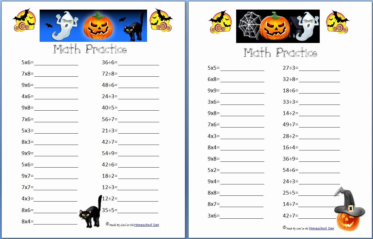 Halloween Math Coloring Page Elegant Halloween Math