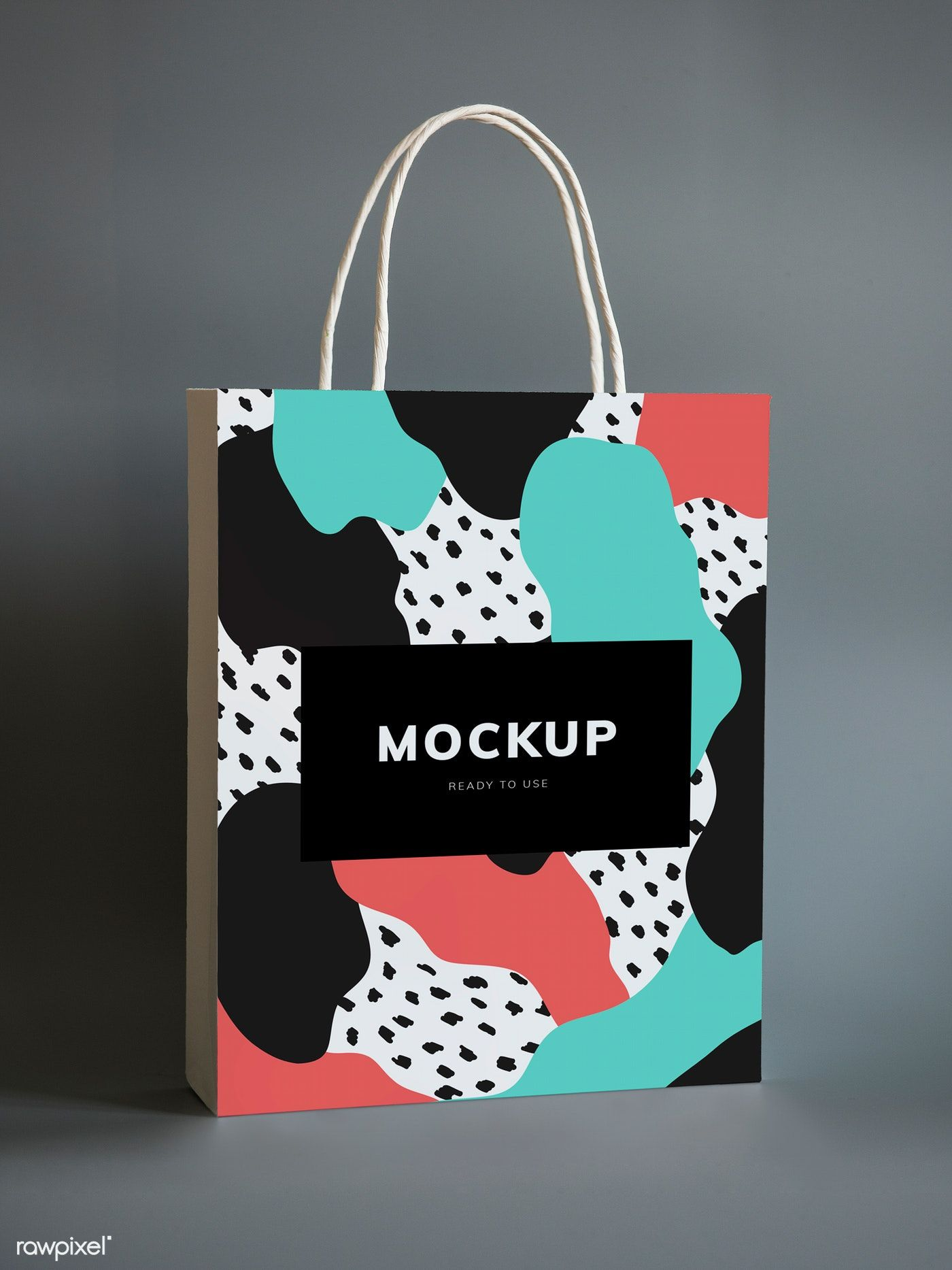 Download Download Premium Psd Of Colorful Shopping Paper Bag Mockup 502767 Paper Bag Design Bag Mockup Paper Bag