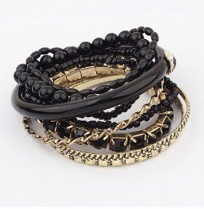 Best-seller Delicate Nationality Strings of Beads Multi-layers Charm Bracelet Bangle