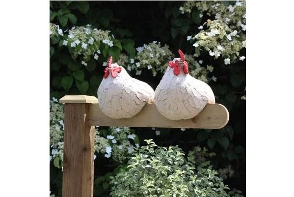 курицы из бетона