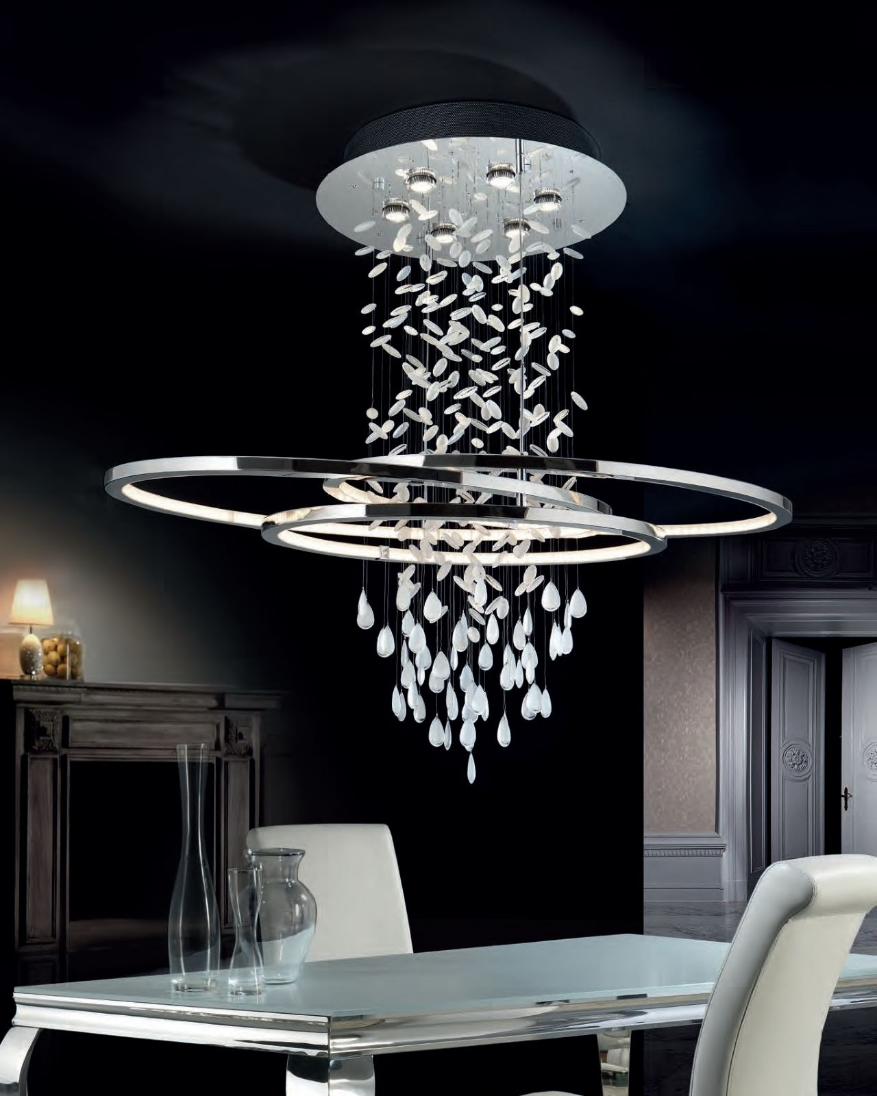 Asymmetric Oval Long Drop Led Light Perfect For