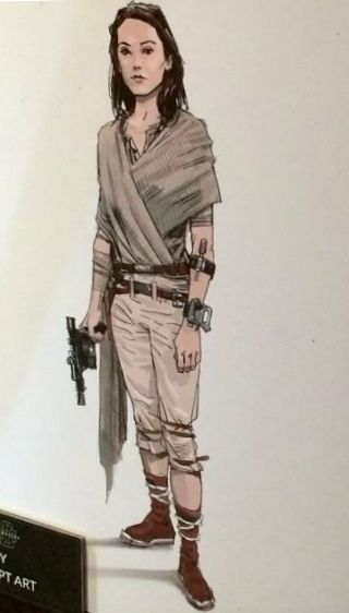 """Concept art of Rey from """"Star Wars Episode VII: The Force Awakens"""" (2015)."""