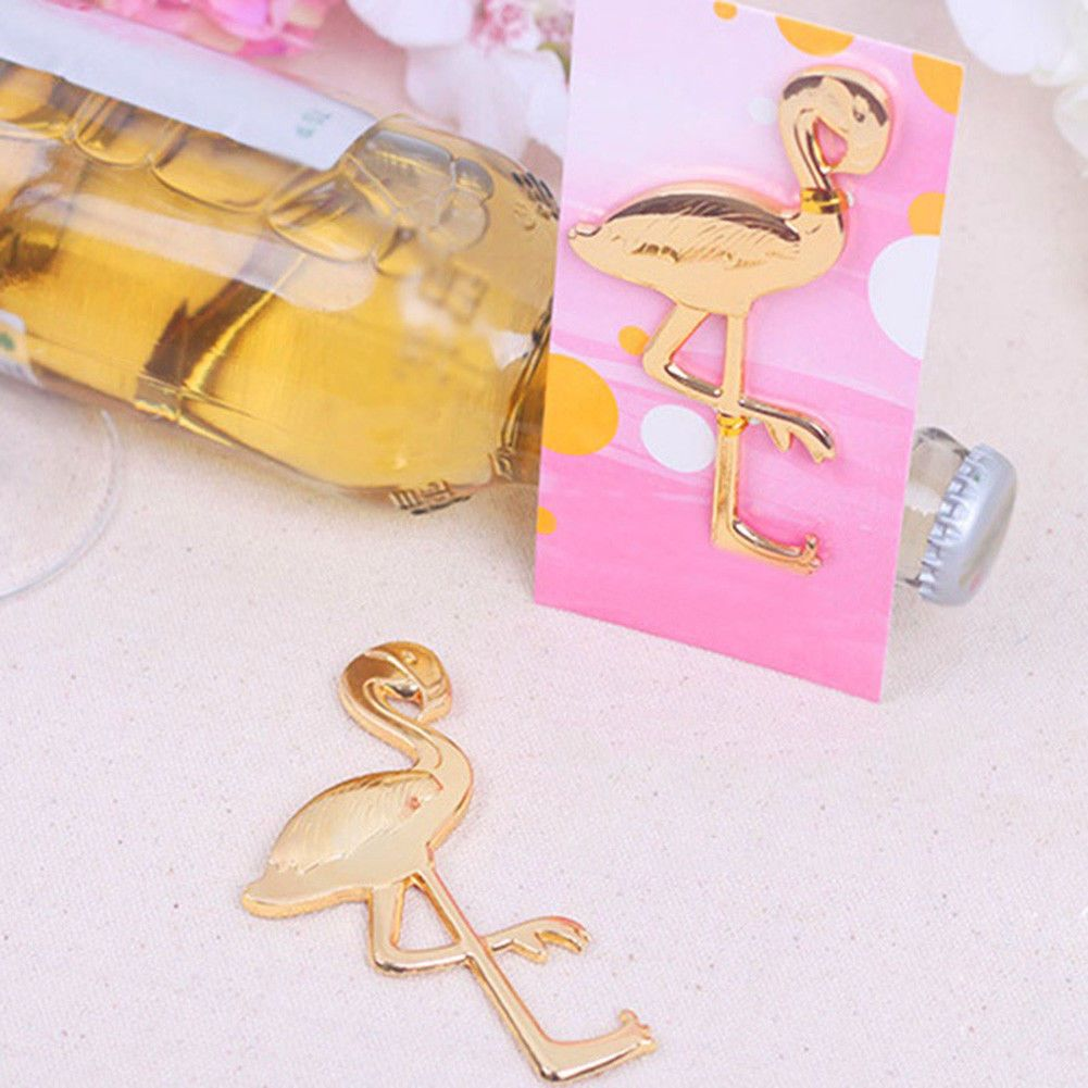 $1.53 - Gold Flamingo Bottle Opener Wine Beer Bottle Opener Wedding ...