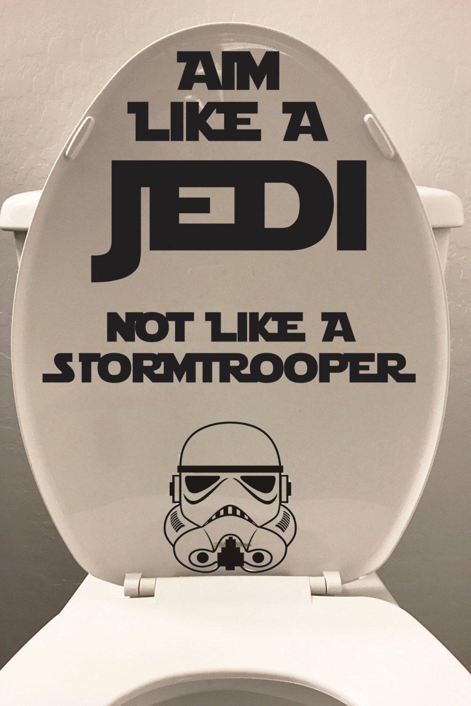 Star Wars Vinyl Decal Aim Like A Jedi Not Like A Stormtrooper - Custom vinyl decal usage