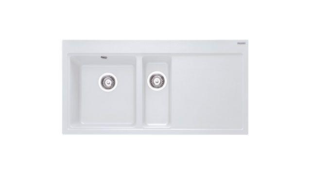 Franke Mythos MTG 651 100 Fragranite Polar White Kitchen Sink RHD