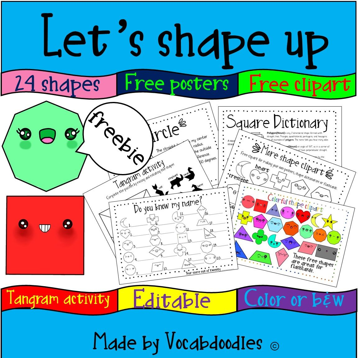 Cute Shape Printable Free Editable Posters That Introduce