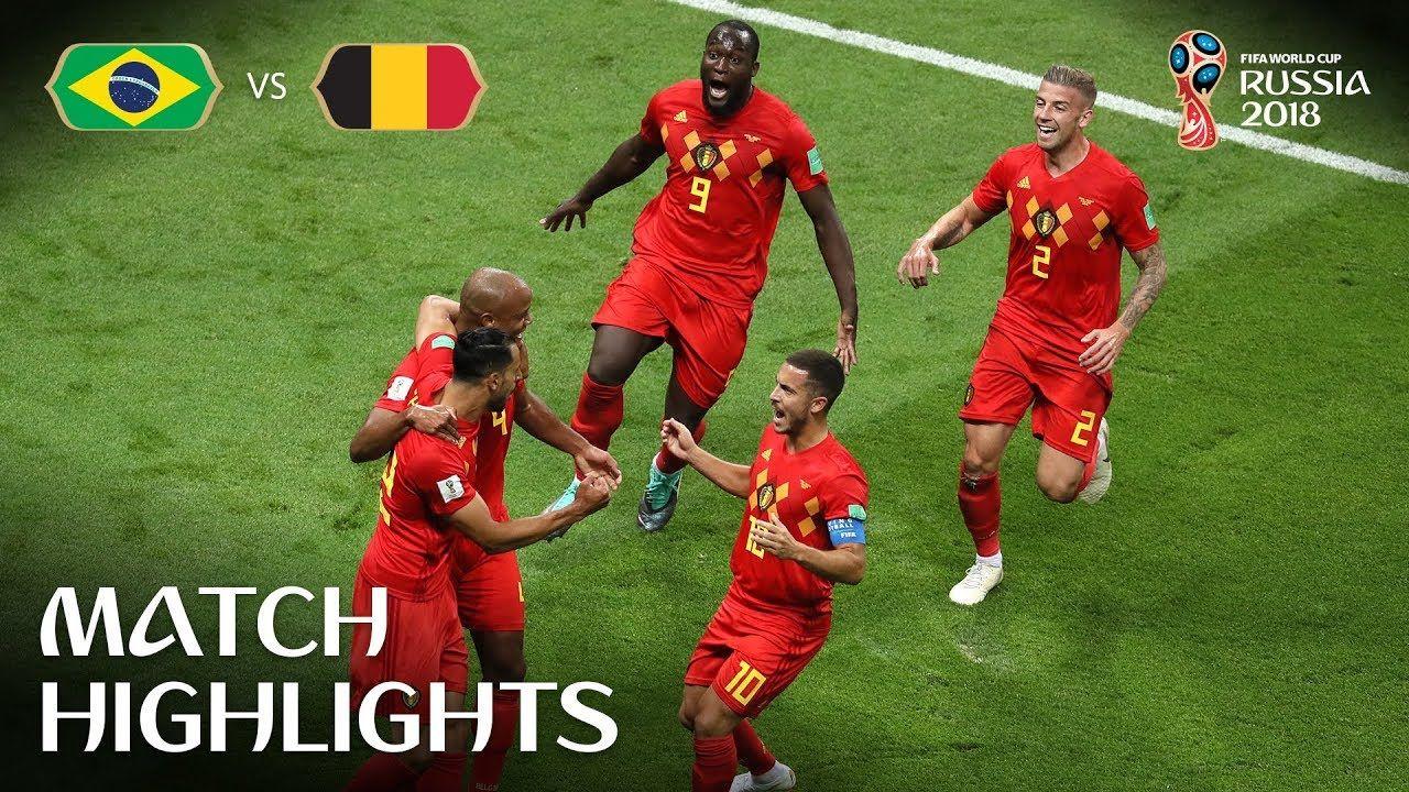 Brazil V Belgium 2018 Fifa World Cup Russia Match 58