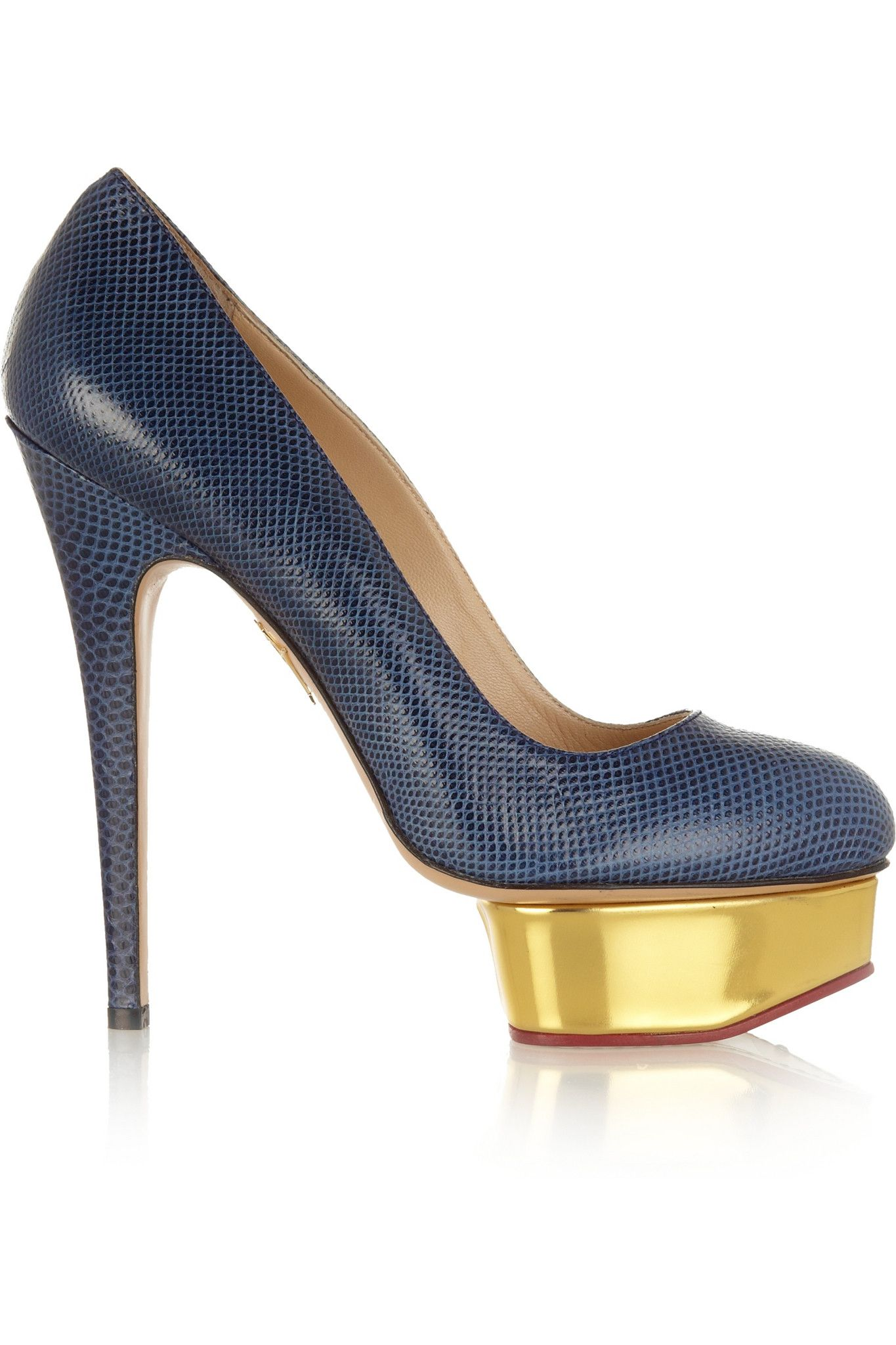 Charlotte Olympia - Dolly karung pumps. Shoe BoxMidnight BlueCharlotte ...