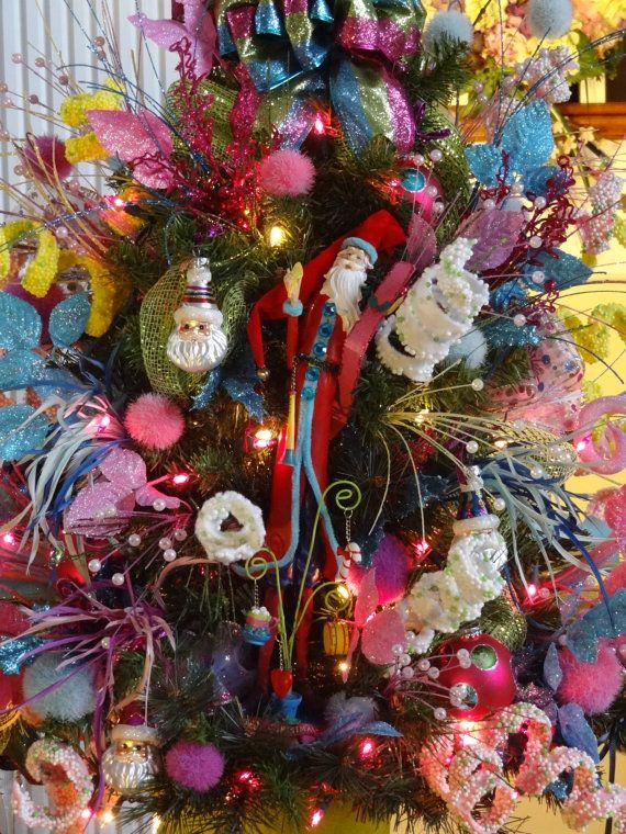 Christmas Tree, Christmas Trees, Small Decorated Lighted Christmas