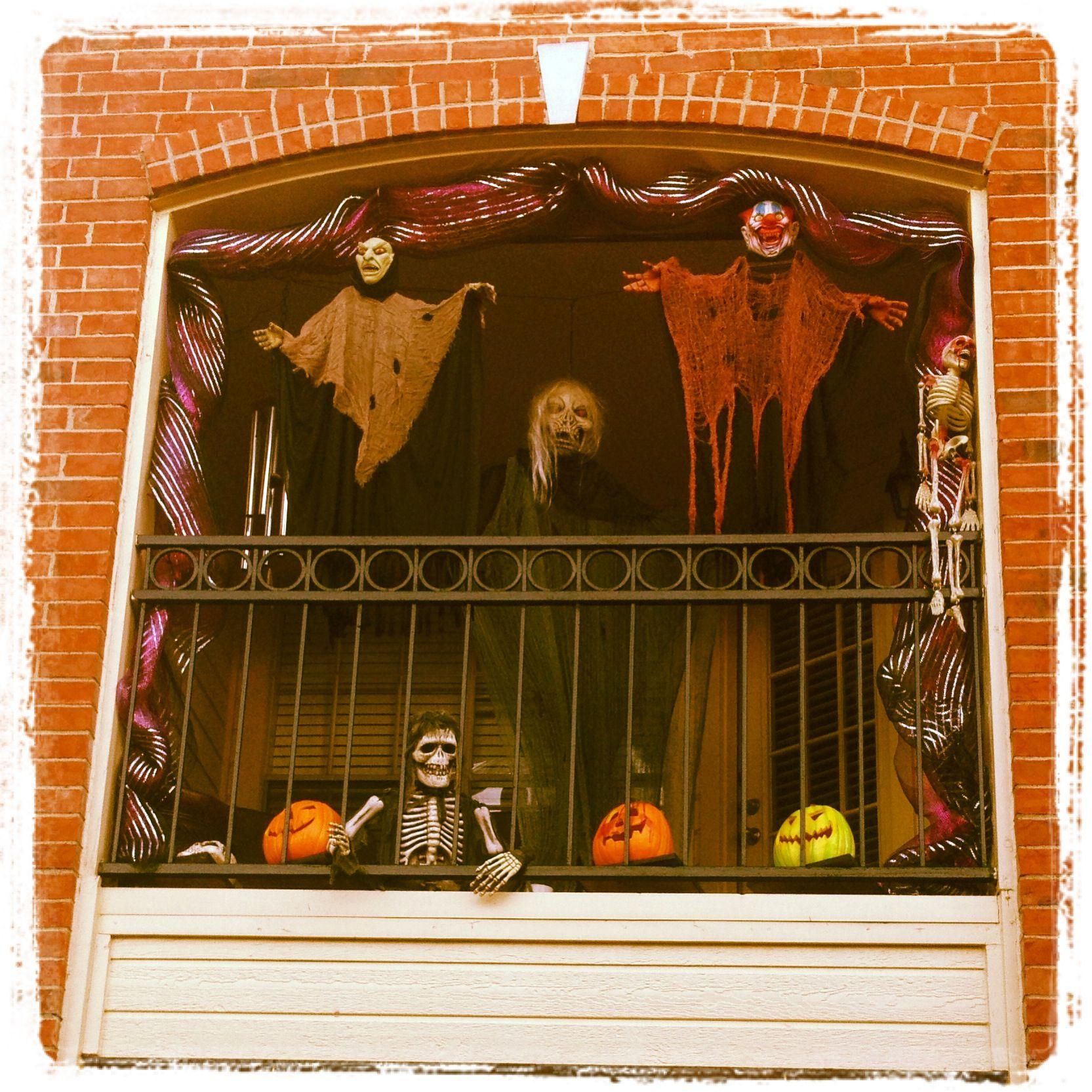 Halloween Time On The Balcony Halloween Decorations