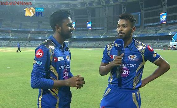 Mi Vs Kkr How Two Brothers Hardik And Krunal Pandya Scripted Sensational Win For Mumbai Indians Watch Video Mumbai Indians Indian Watch Indians