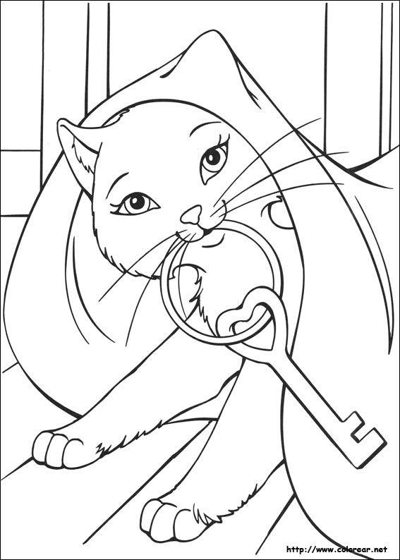 Dibujos de Barbie en la princesa y la plebeya para colorear en
