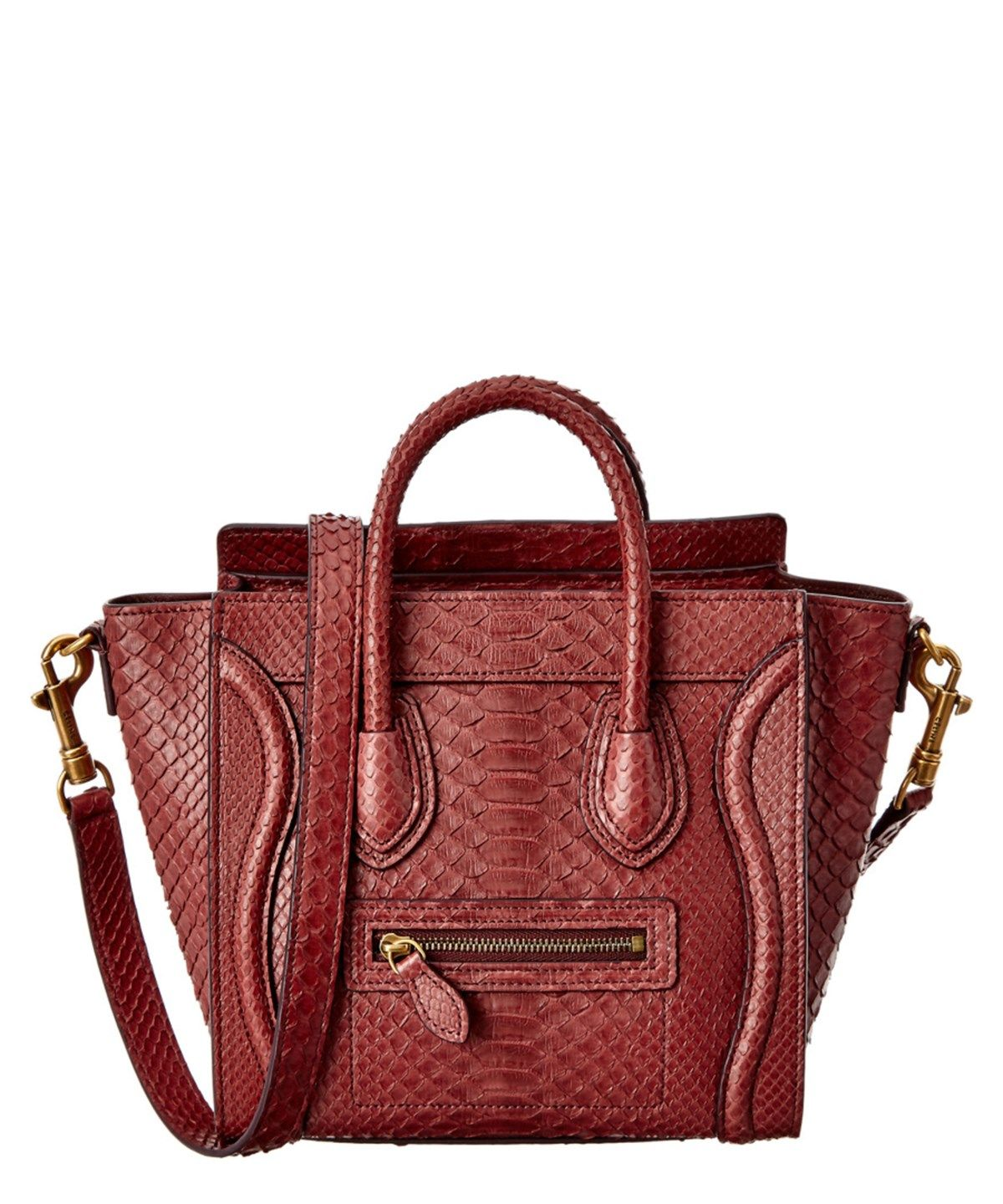5e331c91f529 CELINE CELINE NANO PYTHON LUGGAGE TOTE .  celine  bags  shoulder bags  hand  bags  tote  lining