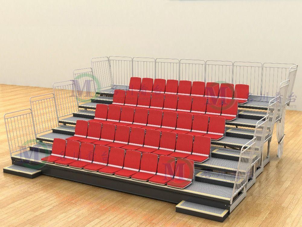 Zhen Retractable Grandstand Indoor Stadium Telescopic Tuibune Steel Structure For Aluminum Outdoor Be Sport Bar Design Telescopic Seating Stage Lighting Design