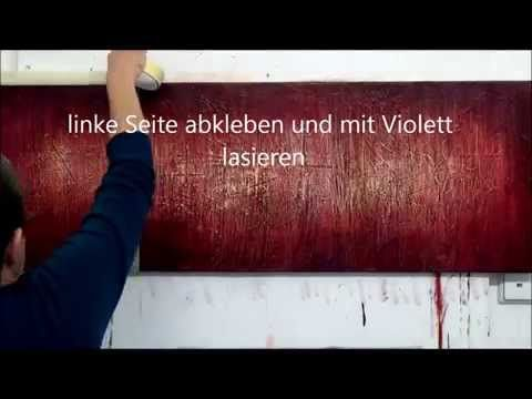 Acrylmalerei Abstrakt Sonnenuntergang Zeitraffer Youtube