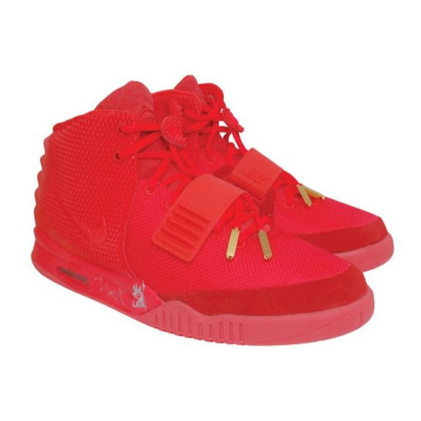 Kanye West Autographed Nike Air Yeezy Ii 2 Red October Sole Liked On Polyvore Featuring Shoes Nike And Yeezy Fresh Sneakers Nike Air Nike