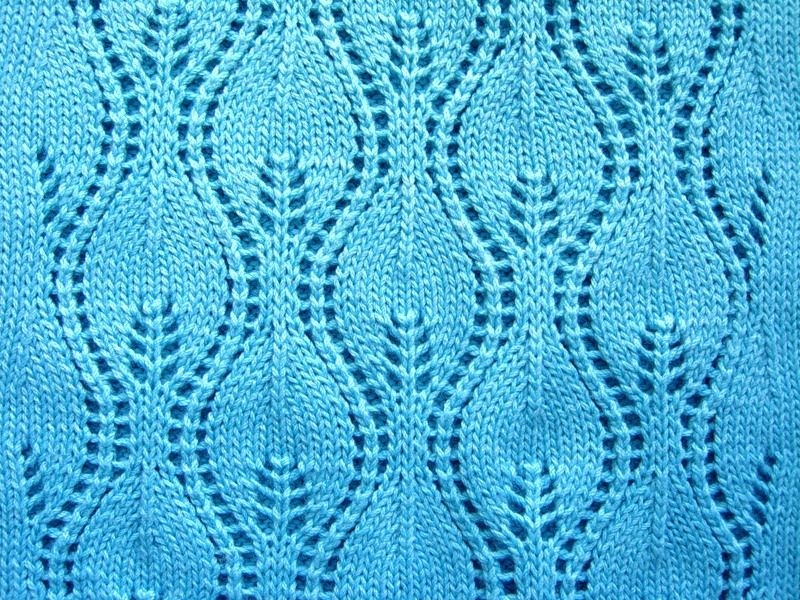 Wavy Leafs Free Knitting Stitch Chart More Great Patterns Like This