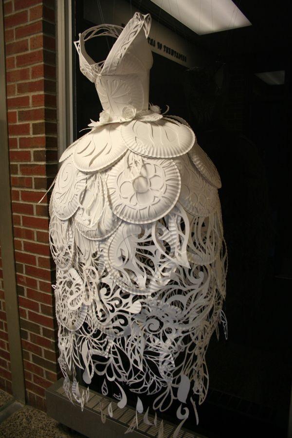 Paper Plate Dress by Ali Ciatti