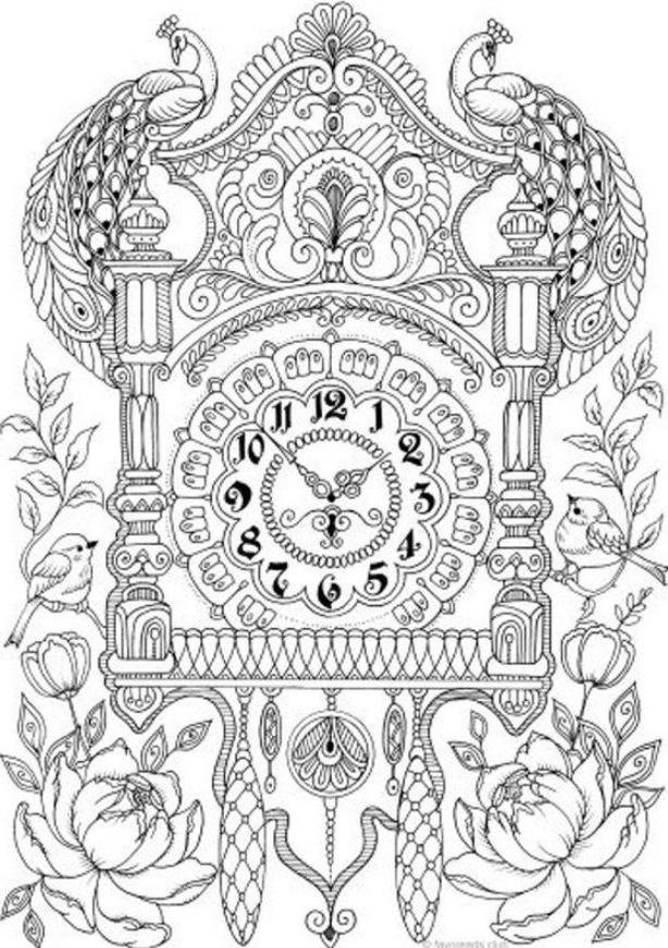 Wall Clock Printable Adult Coloring Page – Coloring Book coloring #kids #wall #clock #printable #adult #coloring #page #&8211; #coloring #book