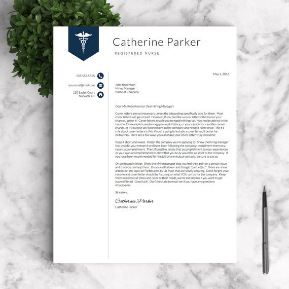 Nursing Resume Template For Word Pages Nurse Resume Doctor Etsy Nursing Resume Template Medical Resume Template Nursing Resume