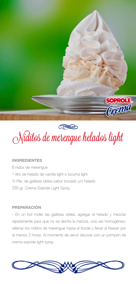 Niditos de Merengue