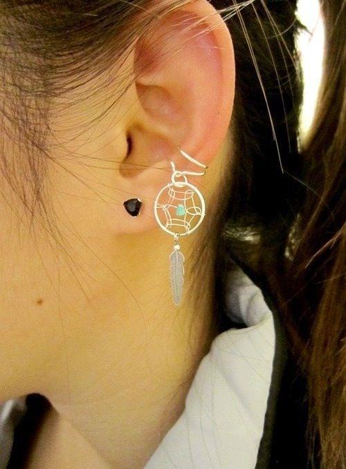 Dreamcatcher Ear Cuff From Trinkets Pinterest Dream Catchers Custom Dream Catcher Ear Cuff