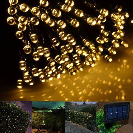 Solar Led String Lights Outdoor Solar String Lightsfirstlights 100 Led Warm White  Great For