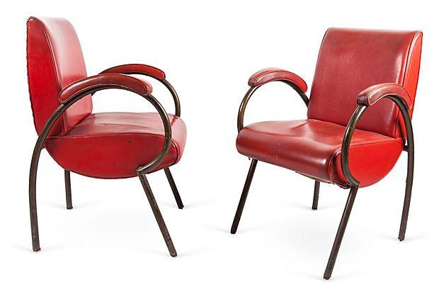 Art Deco French Tubular Chairs, Pair, II on OneKingsLane.com