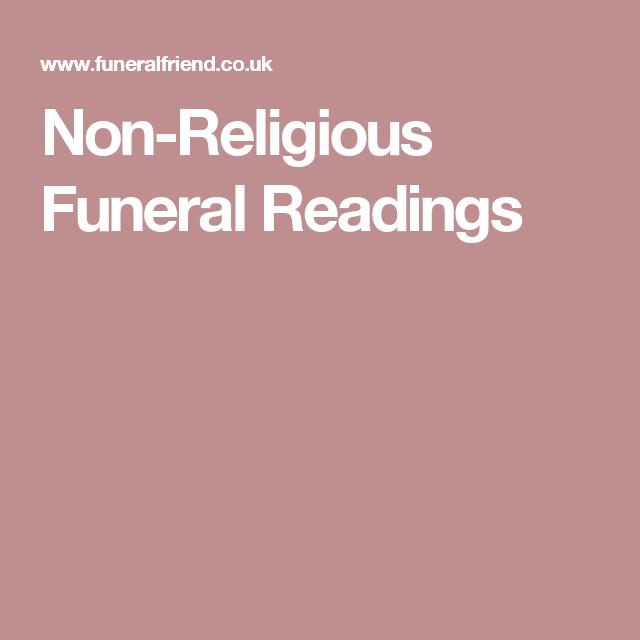 Non-Religious Funeral Readings