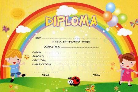 Attestato Bambini ~ Maestra nella: diplomi scuola dell infanzia luokkaan