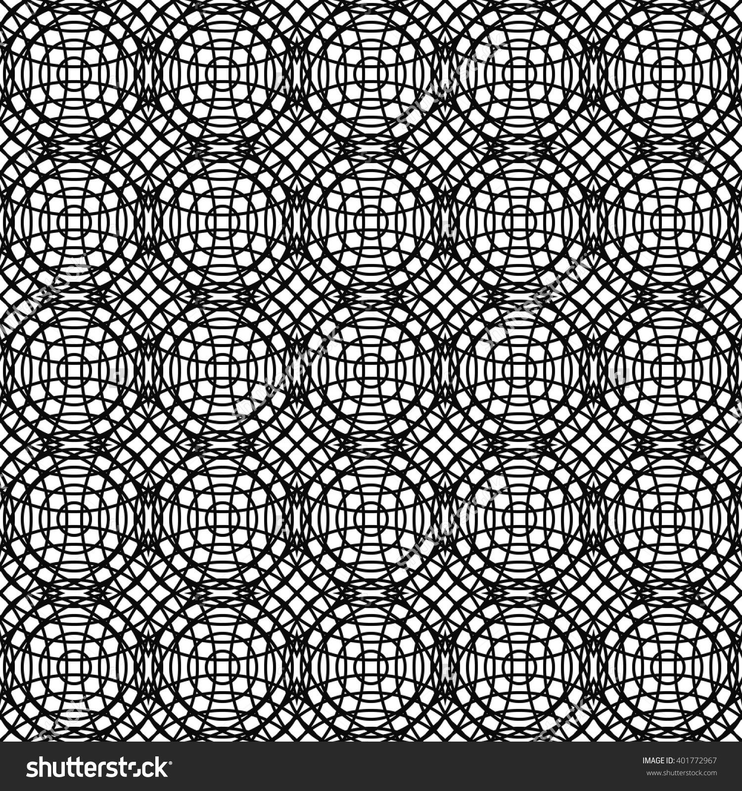 Repeating Monochrome Vector Curved Line Pattern Design Background - 401772967 : Shutterstock