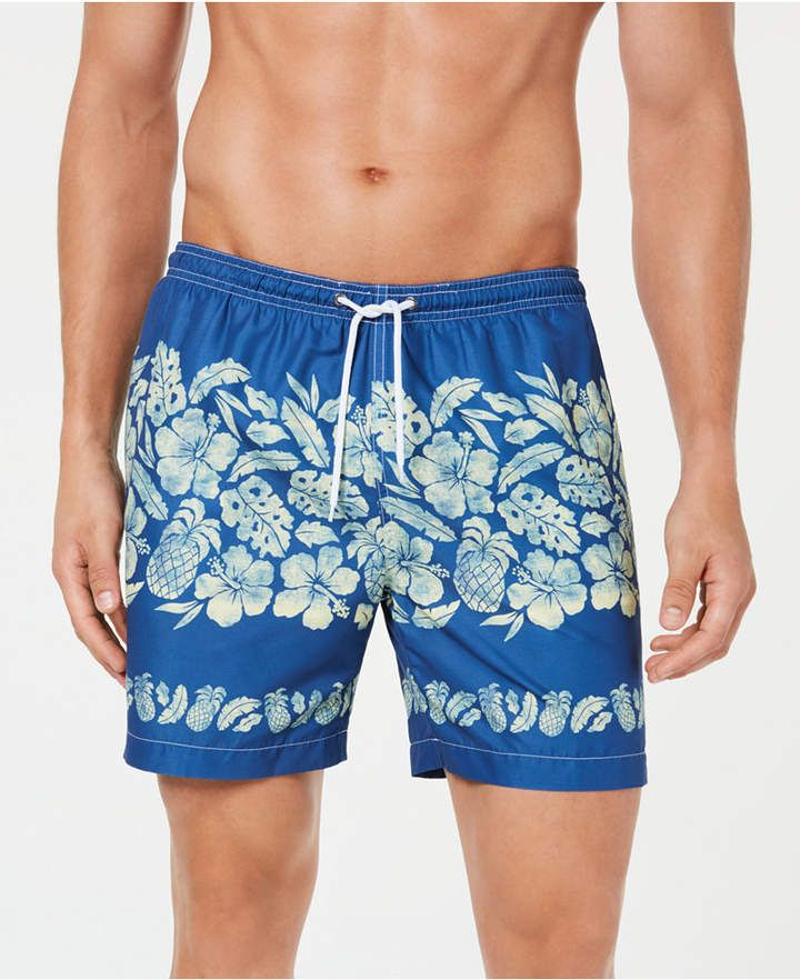e0014c80a6 Shop Trunks Surf & Swim Co. Men's Sano Tropical Print 7 Volley Swim Trunks  online at Macys.com. Tropical floral motifs contrasting on a brisk ground  ...