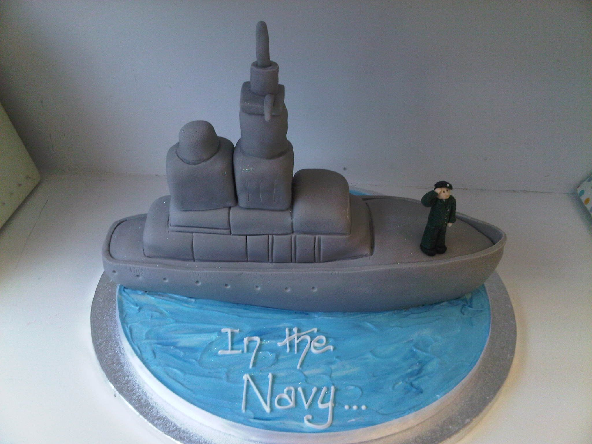 navy ship cake Cakes Pinterest Navy ships Cake and Birthday cakes