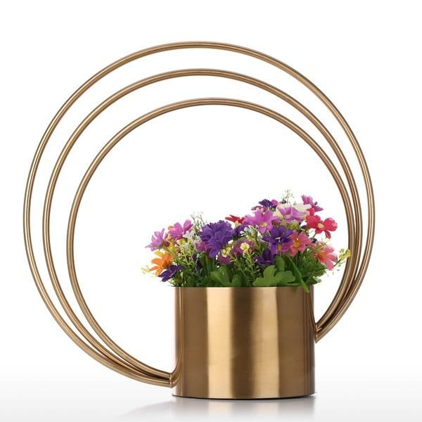 Indoor plants or plant pots with decorative vases flower pot flowering decoration stainless steel gold vase ideas also and round for rh pinterest