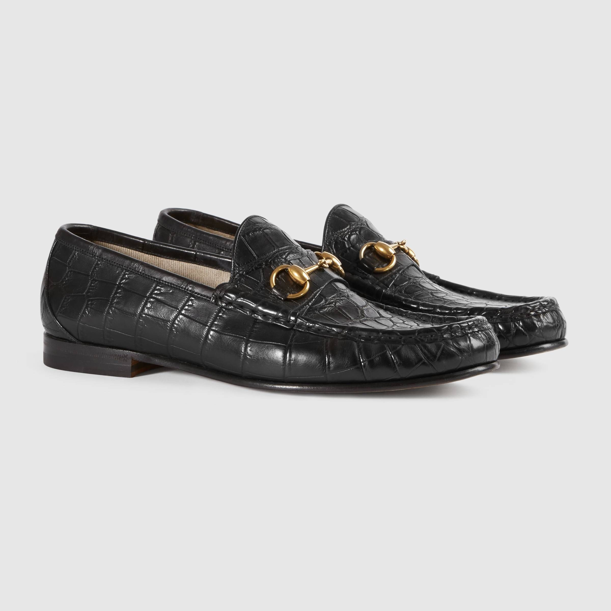 d4027f6c7d5 1953 Horsebit crocodile loafer - Gucci Men s Moccasins   Loafers  307929EC2001000