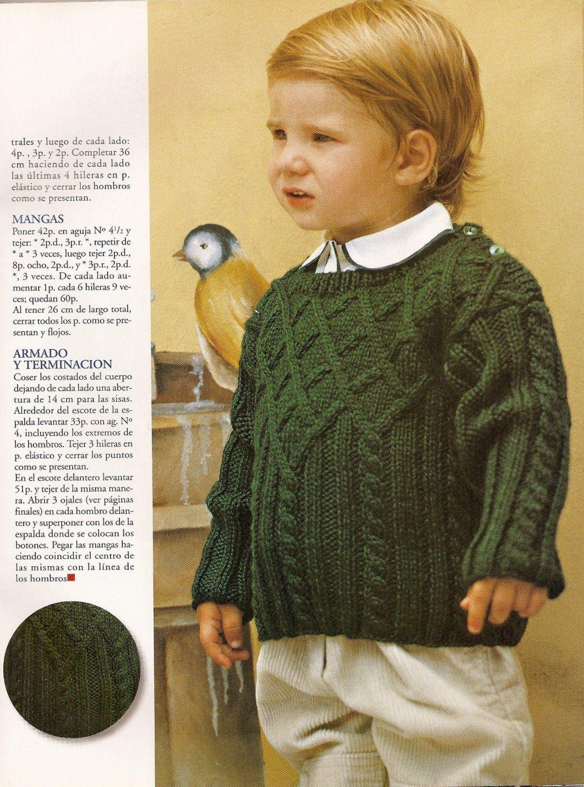iKnitts: Patron para tejer un sweater de bebe (2 años) estilo ingles ...