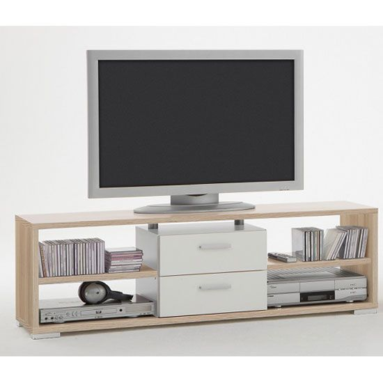 Nemo Wooden Ashtree/White Plasma LCD TV Stand