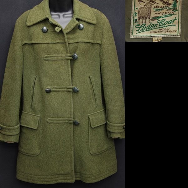 vintage women's 1960s duffle coat - love the closures with the ...
