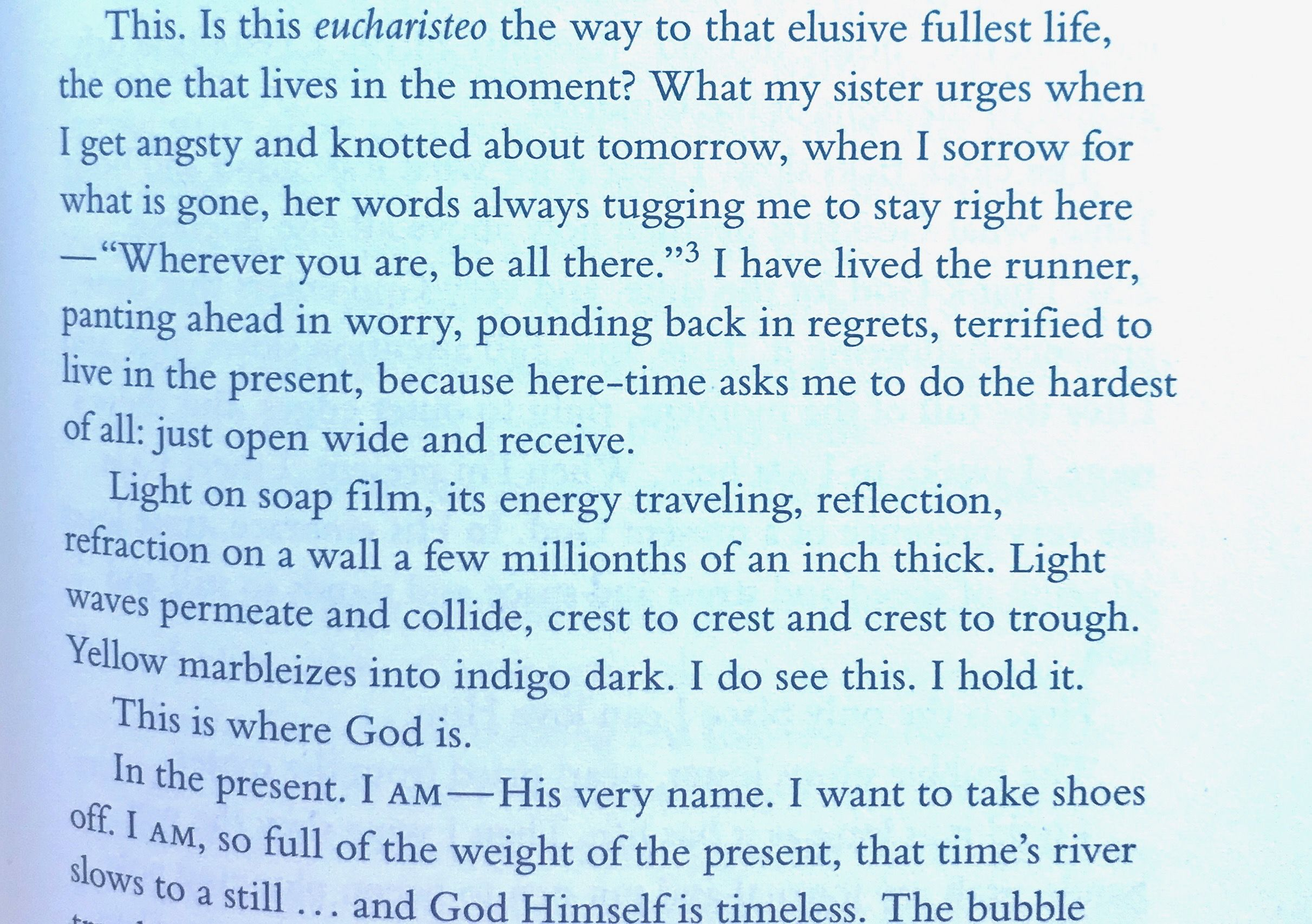 From one thousand gifts by ann voskamp one thousand