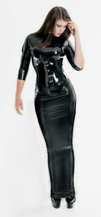 Long hobble corset dress