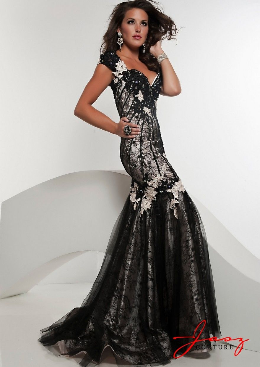 Trumpet Cut Floor Length Gown With Lace Appliques $458 #floor #lace #girl #appliques #gown #trumpet #cut #with #prom #length #prom dress #dress #sexy #princess