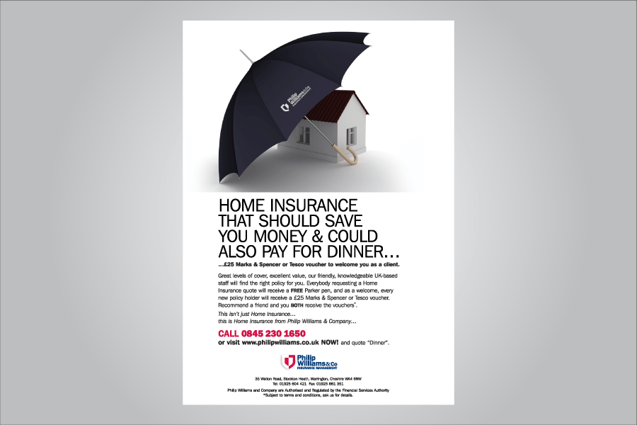 Home insurance advertising home umbrella advertising for Advertising companies uk