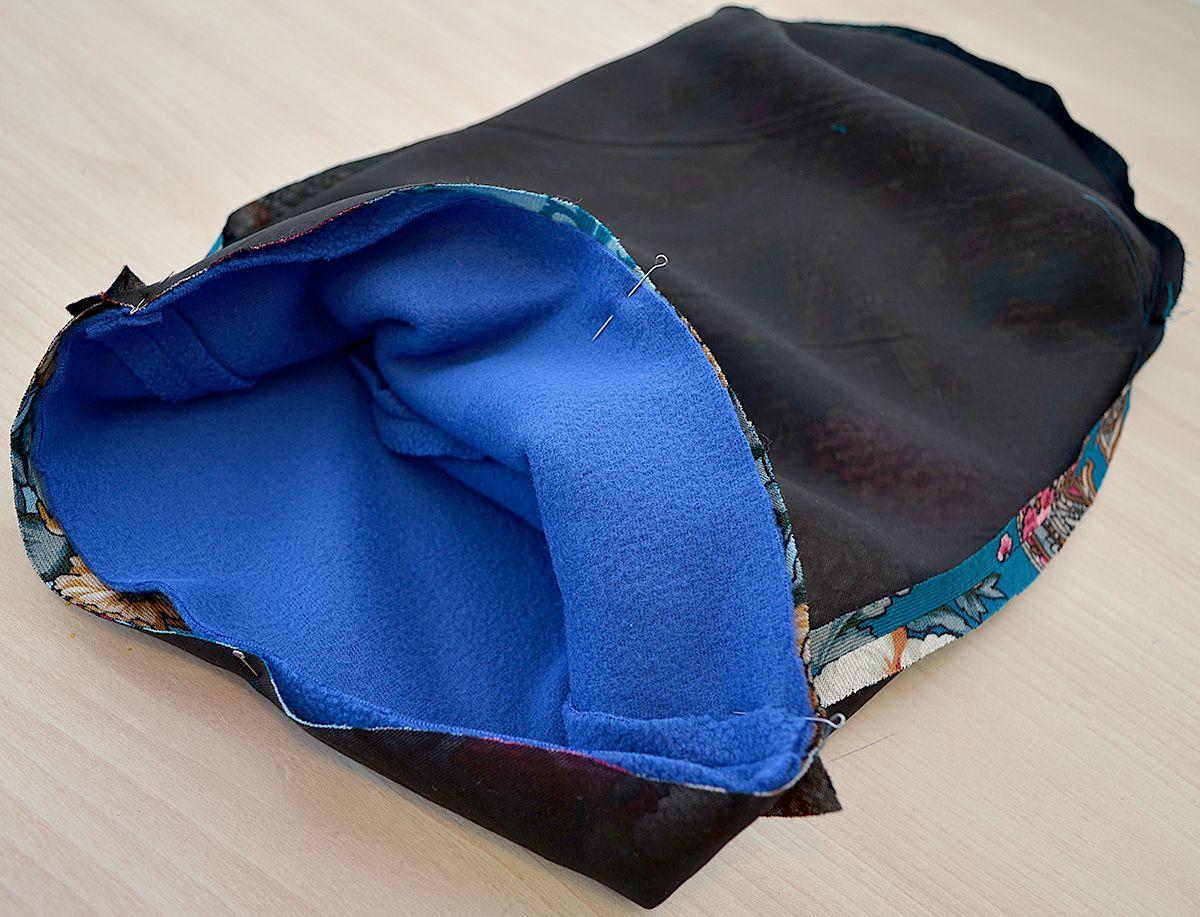 выкройка шапки из платка для женщин