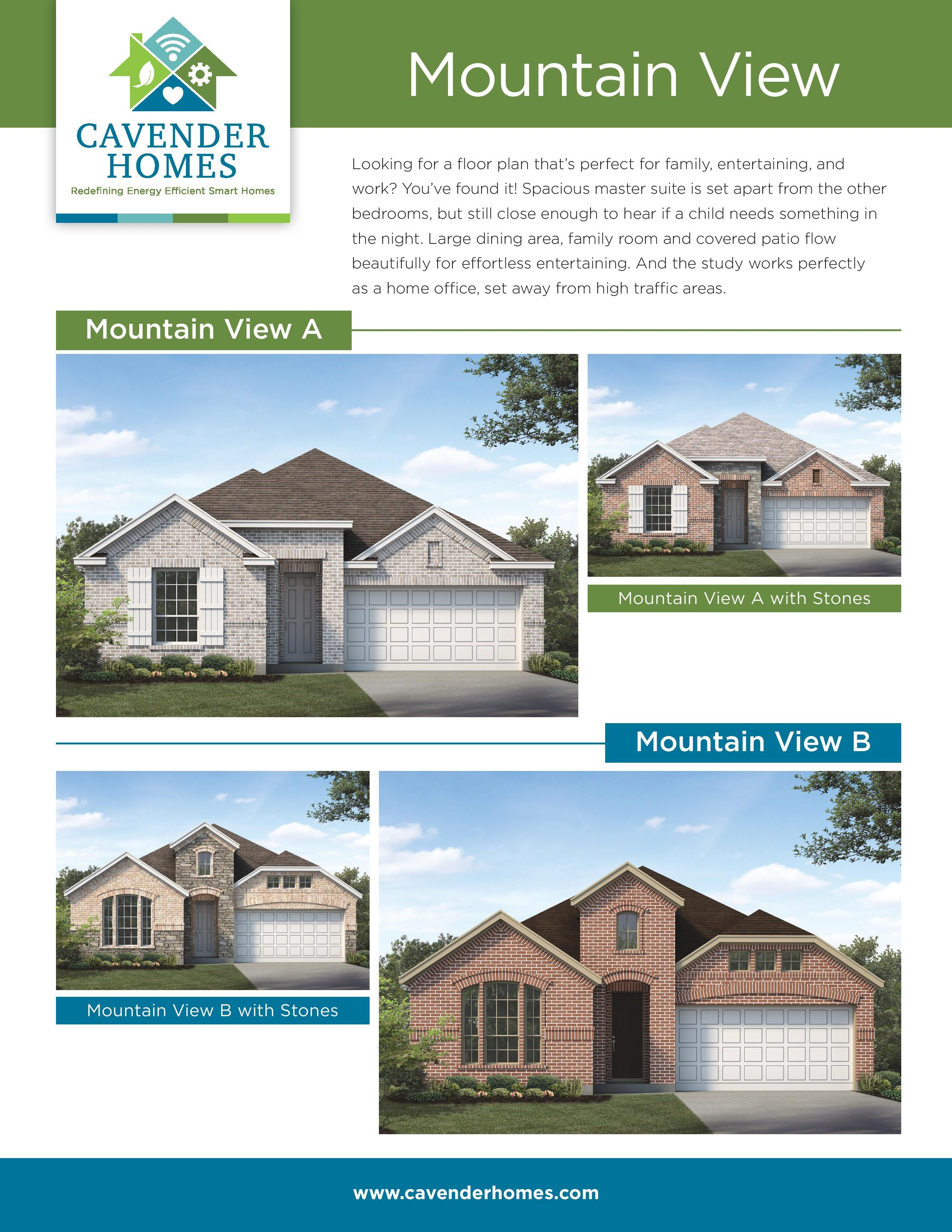 Mountain View New Homes For Sale Floor Plans New Homes