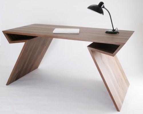 Escritorio moderno y geom trico bureau pinterest m s - Mesa escritorio moderna ...
