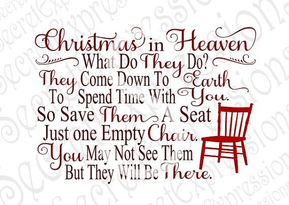 Christmas In Heaven Poem Svg.Pin By Amber Bush On Cricut Christmas In Heaven