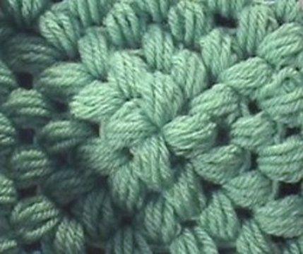Puff Stitch Square Written Instructions Free Crochet Patterns