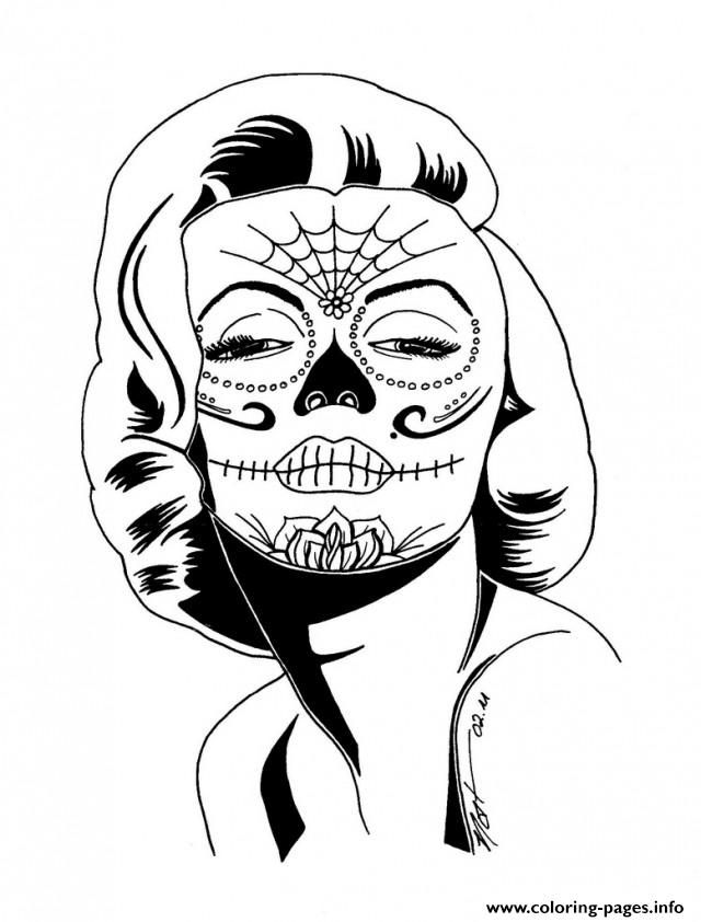 print sexy sugarskull coloring pages